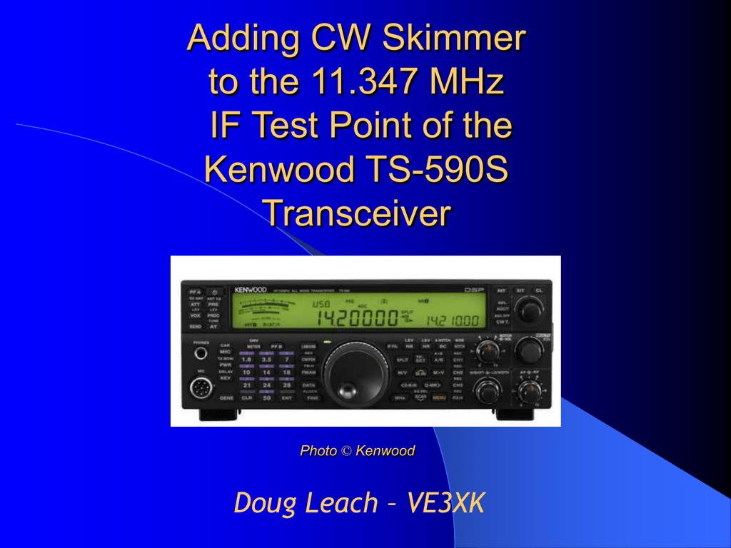 Adding Cw Skimmer To The Kenwood Ts Signalink Usb Wiring Diagram