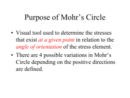 More Mohr`s Circle