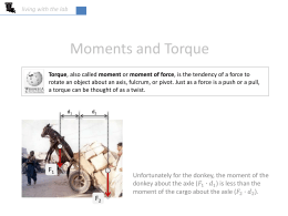 Moments and Torque