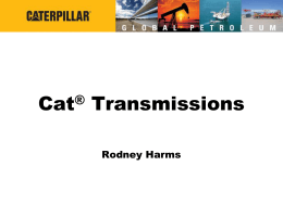 Cat® Transmissions - Caterpillar Oil & Gas: Home