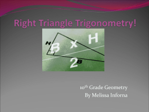 WebQuest on Right Triangle Trig
