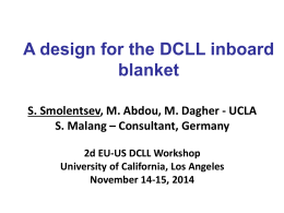 A design for the DCLL inboard blanket