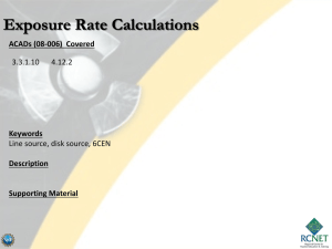 Exposure Rate Calculations