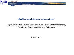 ZnO nanodots and nanowires