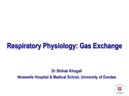 Respiratory Physiology – Gas Exchange