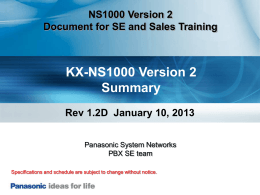 0. NS1000V2 Summary 0110 Rev 1.2Dppt#2