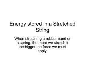 Energy stored in a Stretched String