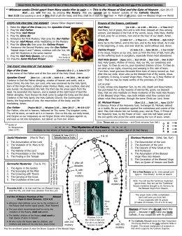 How to Pray the Rosary ink - Immaculata