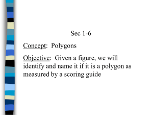 Sec 1-6 Classify Polygons