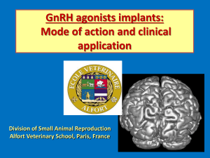 GnRH agonists implants: Mode of action and clinical