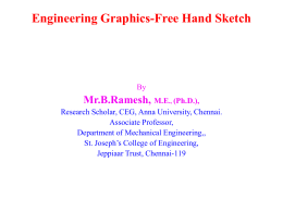 Engineering Graphics-Free Hand sketch Presentation