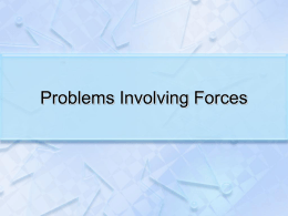 Force Problems PPT