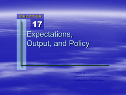 Chapter 17: Expectations, Output, and Policy