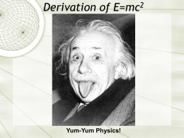 Derivation of E=mc2