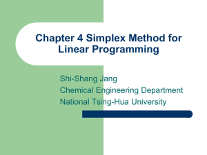 Simplex Method for Linear Programming