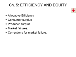 Ch 5. Efficiency and Equity