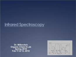 Exercise M1 Infrared Spectroscopy Part I M1: Recording the IR