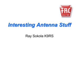 Interesting Antenna Stuff by Ray Sokola, K9RS