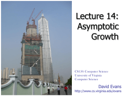 Asymptotic Growth - University of Virginia
