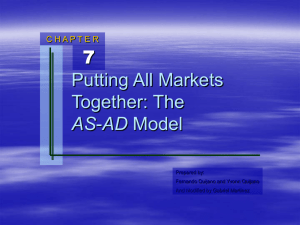 Chapter 7: Putting All Markets Together: The AS