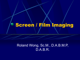 Film/Screen Imaging