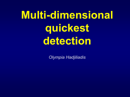 Multi-dimensional quickest detection