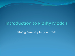 Introduction to Frailty Models