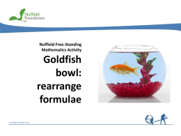 Slides - Nuffield Foundation
