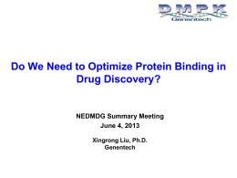 Do we need to optimize plasma protein binding in drug discovery?
