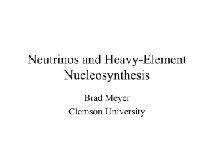 Neutrinos and Heavy Element Nucleosynthesis