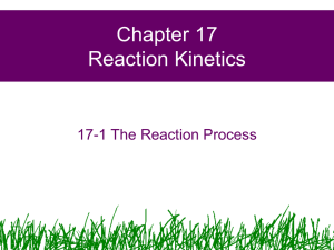 Chapter 17 Reaction Kinetics