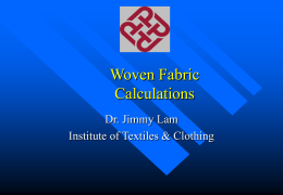 Woven Fabric Calculation
