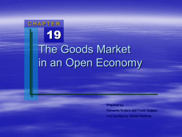 Chapter 19: Goods Market in an Open Economy.