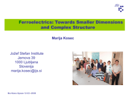 Ferroelectrics: Towards Smaller Dimensions and Complex Structures
