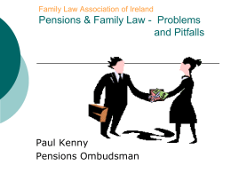 Family Law and Pensions - The Pensions Ombudsman