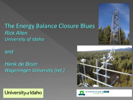 Energy Balance Closure Blues
