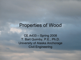 Properties of Wood - Quimby