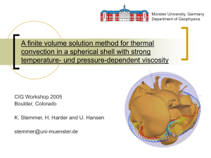 A finite volume solution method for thermal convection in a spherical