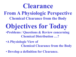 Lecture 3 (Clearance)