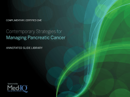 Pancreatic Cancer - Med-IQ