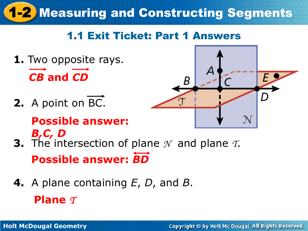 Holt McDougal Geometry 1-2