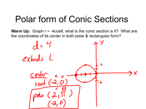 Polar form of Conic Sections