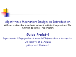 VCG-mechanism - University of L`Aquila
