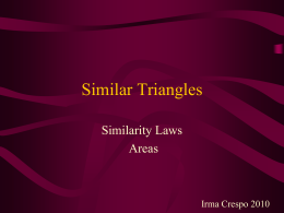 Similar Triangles - Teaching Portfolio