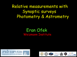 Photometry and Astrometry -
