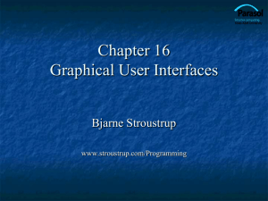 Ch16: Graphical User Interfaces