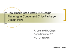 Row-Based Area-Array I/O Design Planning in Concurrent Chip