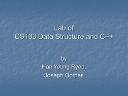 CS103-31 Lab of Data Structure and C++