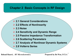 chapter 02 Basic Concepts in RF Design