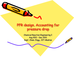 PFR design - Chemical Engineering